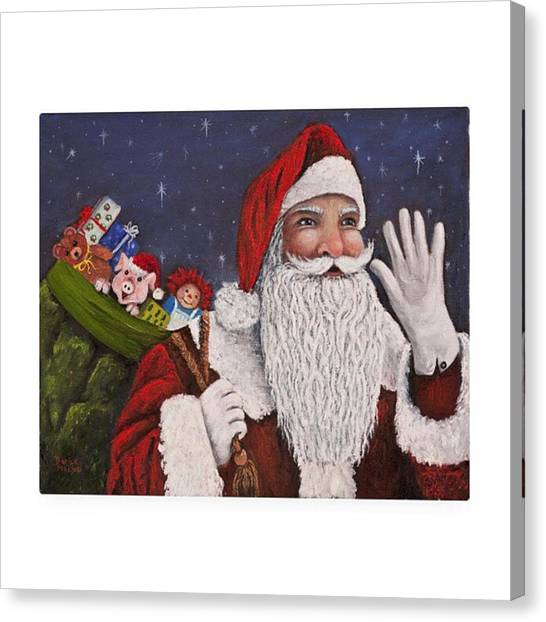 Holidays Canvas Print - merry #christmas To All Is This by Darice Machel McGuire