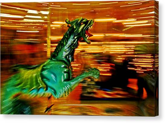 Merry-go-round Dragon Canvas Print