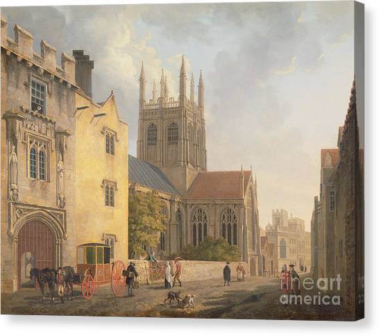 Town Canvas Print - Merton College - Oxford by Michael Rooker