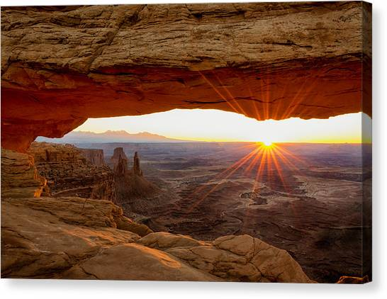 Formation Canvas Print - Mesa Arch Sunrise - Canyonlands National Park - Moab Utah by Brian Harig