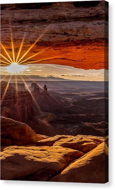 Mesa Arch Triptych Panel 2/3  Canvas Print