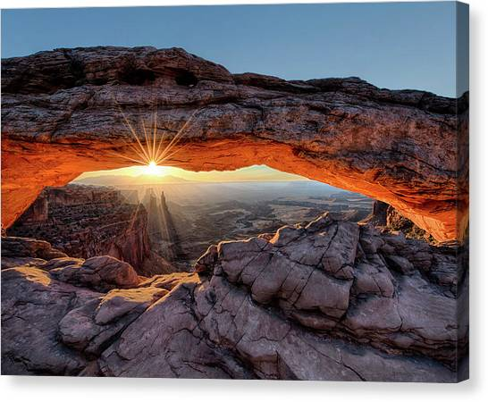 Mesa Arch Sunburst By Olena Art Canvas Print