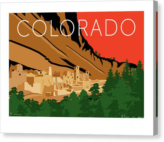 Mesa Verde Orange Canvas Print