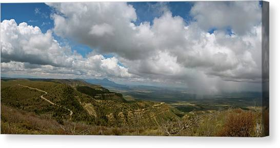 Verde Canvas Print - Mesa Verde Park Overlook by Joan Carroll