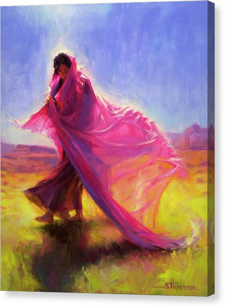 Breeze Canvas Print - Mesa Walk by Steve Henderson