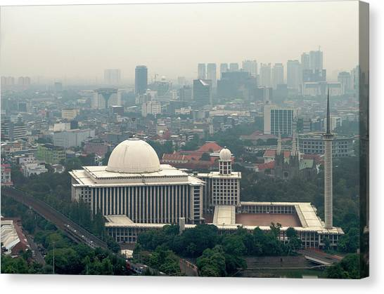 Canvas Print - Mesjid Istiqlal by Steven Richman
