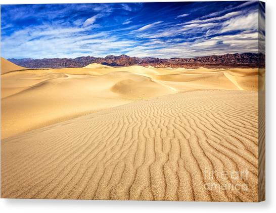 Mesquite Flat Sand Dunes In Death Valley Canvas Print