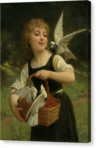 Academic Art Canvas Print - Messenger Of Love by Emile Munier