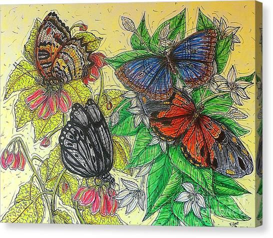 Messengers Of Beauty Canvas Print