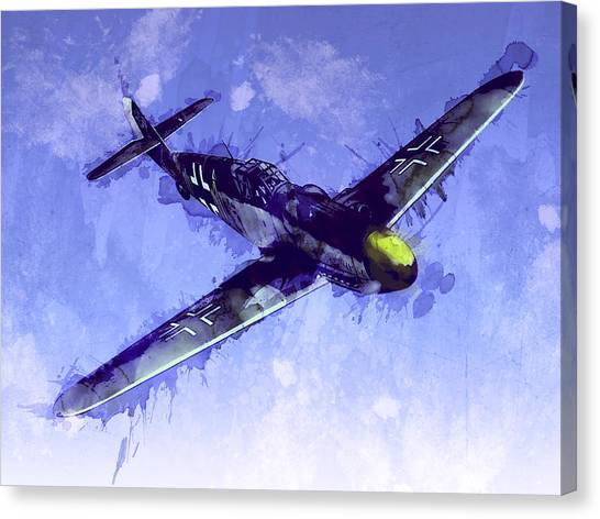 Aircraft Canvas Print - Messerschmitt Bf 109 by Michael Tompsett