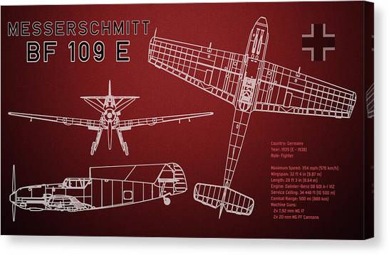Airplane blueprint canvas prints page 9 of 19 fine art america airplane blueprint canvas print messerschmitt me bf 109 e blueprint by jose elias sofia malvernweather Image collections