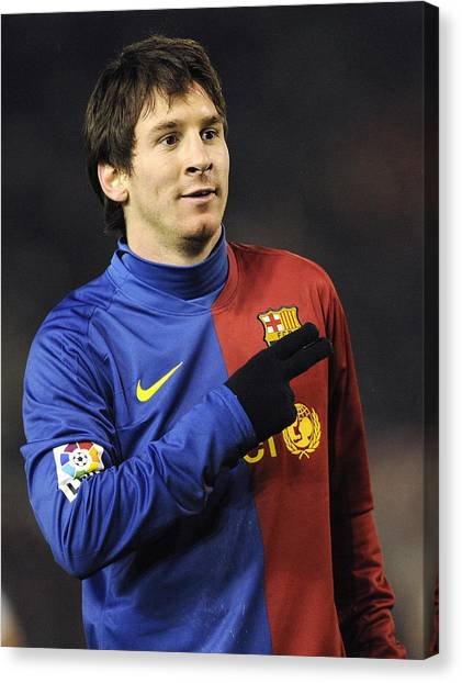 Lionel Messi Canvas Print - Messi 5 by Rafa Rivas