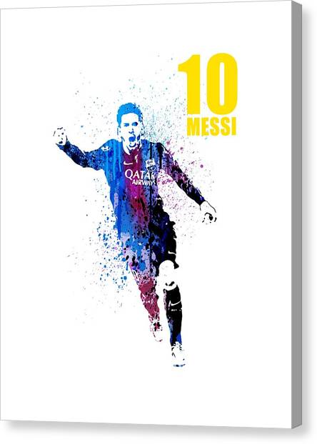 Andres Iniesta Canvas Print - Messi Forever by Art Popop