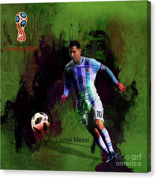 Lionel Messi Canvas Print - Messi In World Cup 2018 Russia  by Gull G
