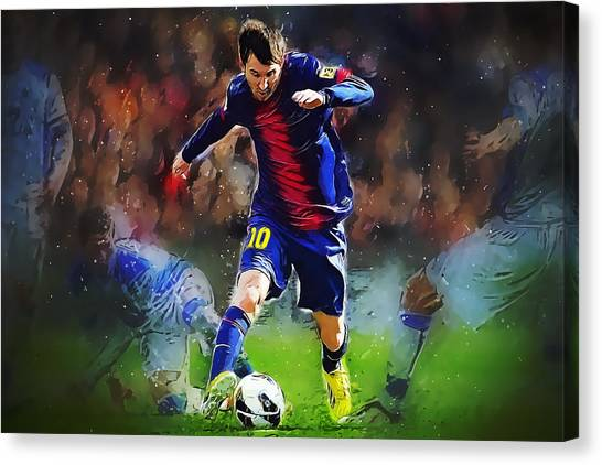 Mls Canvas Print - Messi by Semih Yurdabak
