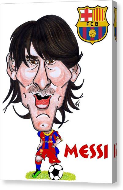 Messi Canvas Print by Tom Glover