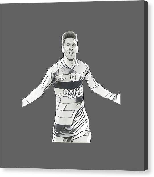 Xabi Alonso Canvas Print - Messi by Vincenzo Basile
