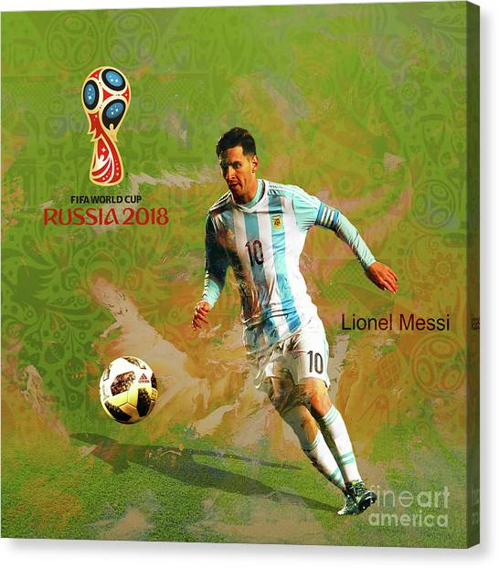 Lionel Messi Canvas Print - Messi World Cup 2018  by Gull G