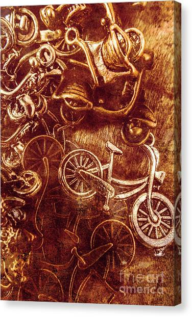 Repairs Canvas Print - Messy Bike Workshop by Jorgo Photography - Wall Art Gallery