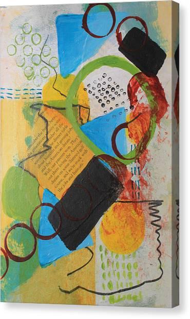 Messy Circles Of Life Canvas Print