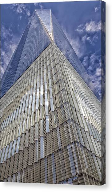 Metal And Glass Highrise Office Building Canvas Print by Robert Ullmann