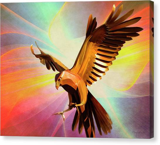 Metal Bird 1 Of 4 Canvas Print