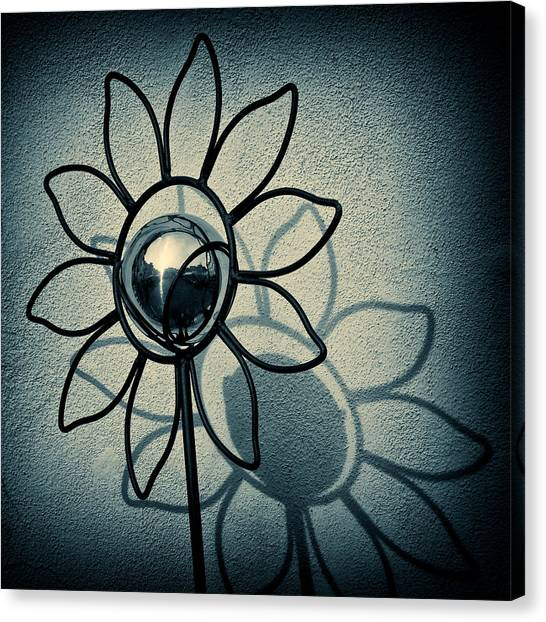 Floral Canvas Print - Metal Flower by Dave Bowman