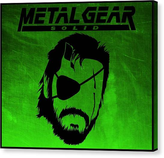 Super Smash Brothers Canvas Print - Metal Gear Solid by Kyle West