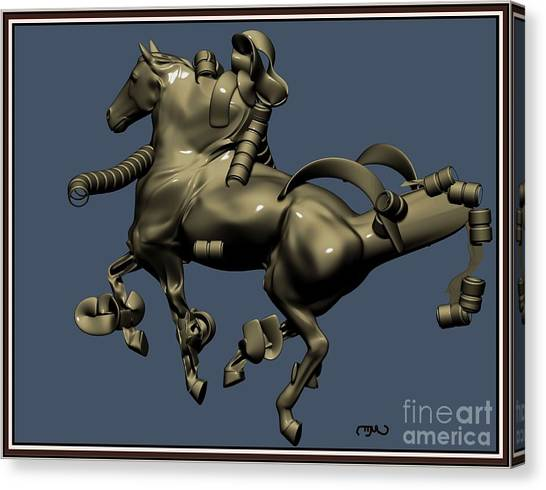 metal horse statue 38MHS1 Canvas Print by Pemaro