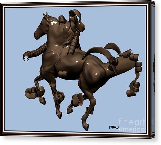 metal horse statue 45MHS1 Canvas Print by Pemaro