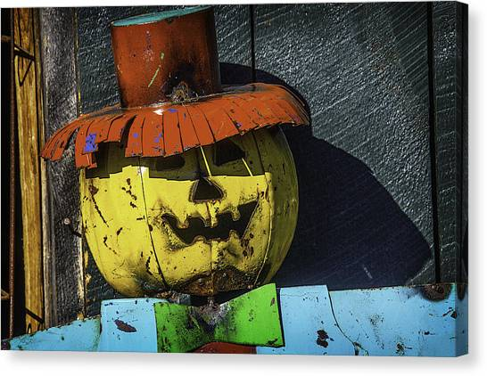 Scarecrows Canvas Print - Metal Scarecrow by Garry Gay