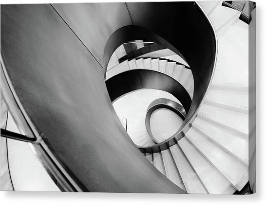 Metal Spiral Staircase London Canvas Print