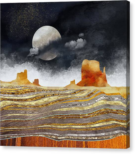 Landscapes Canvas Print - Metallic Desert by Spacefrog Designs