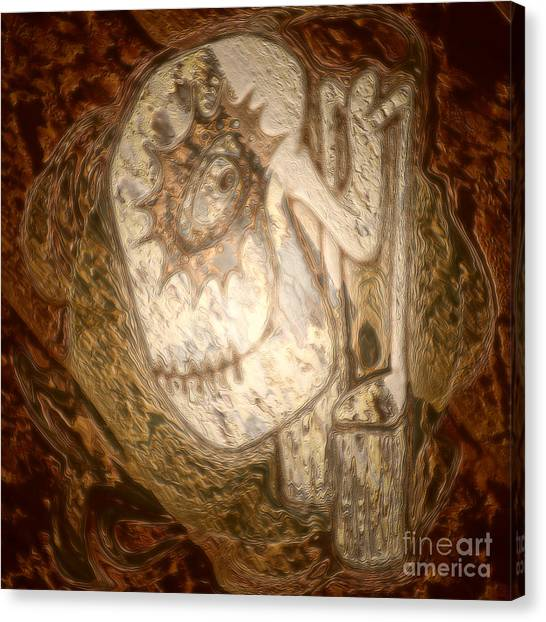 Metallic Ganix Canvas Print