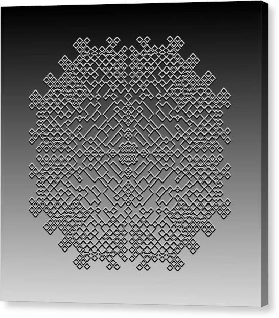 Metallic Lace Cxxix Canvas Print