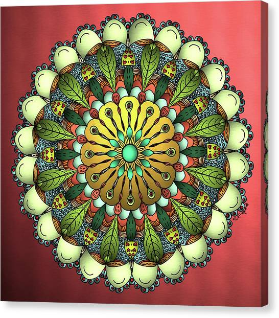 Metallic Mandala Canvas Print