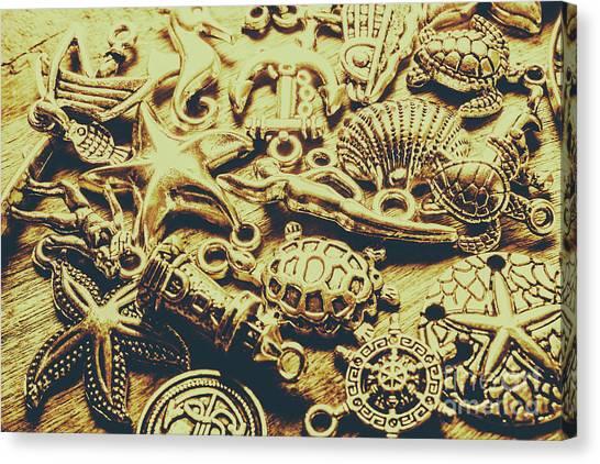 Starfish Canvas Print - Metallic Marine Scene by Jorgo Photography - Wall Art Gallery