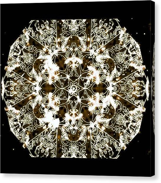 Mandala Canvas Print - Metallic Matrices by Nick Heap