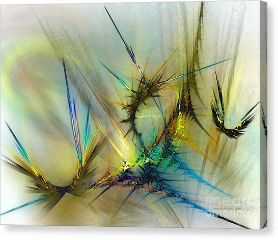Abstract Expressionism Canvas Print - Metamorphosis by Karin Kuhlmann