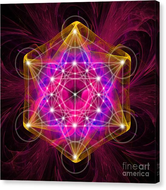 Metatron's Cube With Flower Of Life Canvas Print