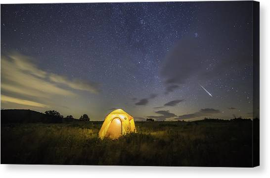 Meteor  Canvas Print by Michael Donahue
