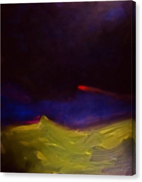 Meteorite Canvas Print by Chris  Riley