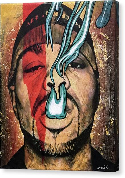 Wu Tang Canvas Print - Meth - Bring The Pain by Bobby Zeik