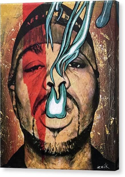 Wu Tang Canvas Print - Meth - Bring The Pain by Bobby Zeik