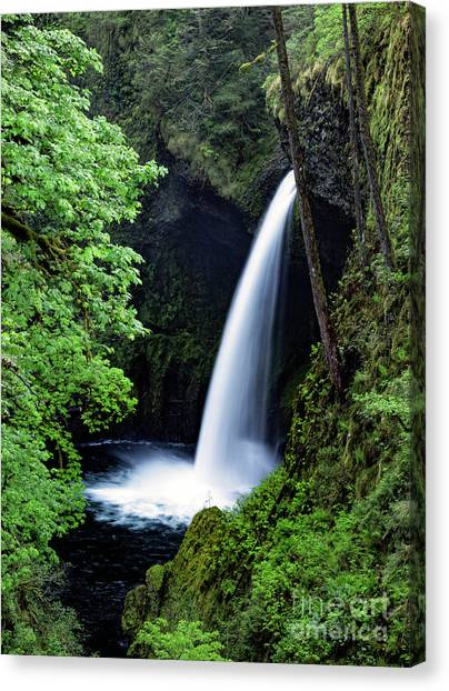 Metlako Falls Waterfall Art By Kaylyn Franks Canvas Print