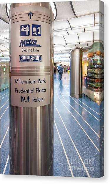 Metra Electric Line Column Sign Canvas Print