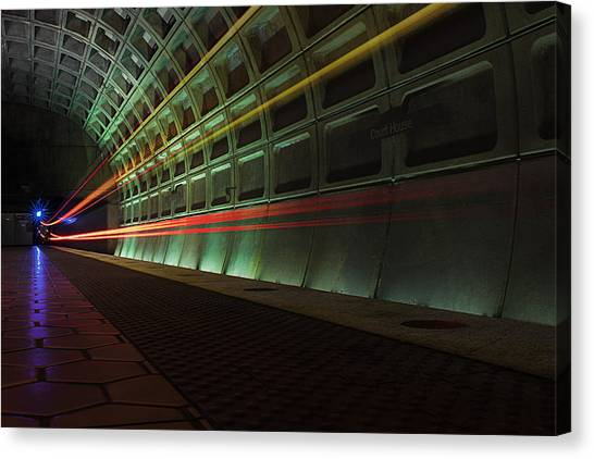 Metro Lights Canvas Print