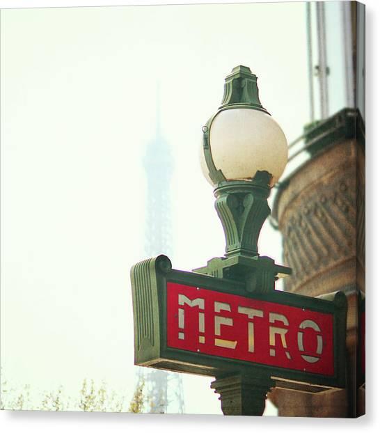 France Canvas Print - Metro Sing Paris by Gabriela D Costa