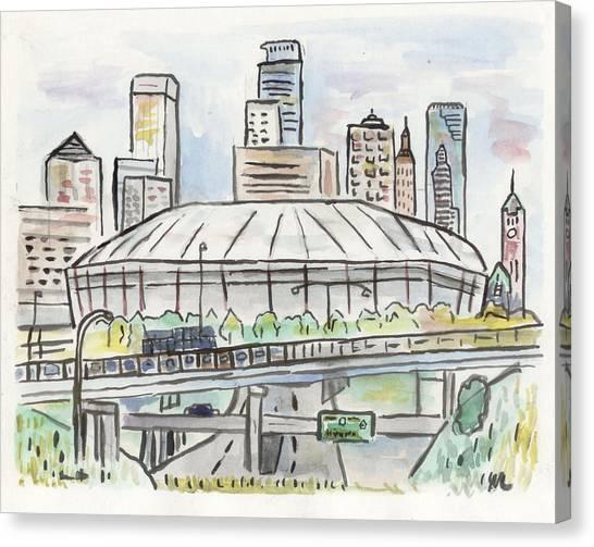 Metrodome Canvas Print