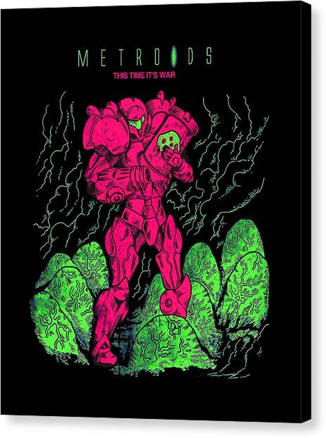 Metroid Canvas Print - Metroid by Dono Two